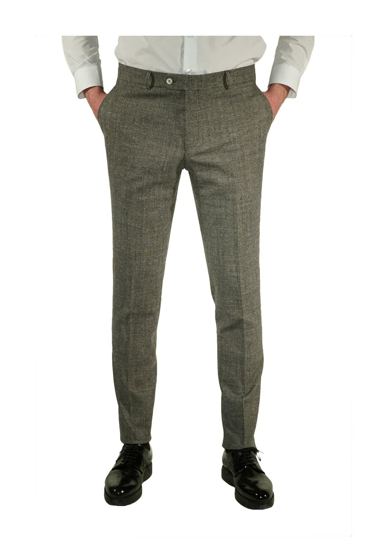 İgs Erkek Gri Slim Fit Exclusive Pantolon 1