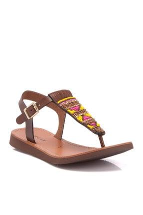 Tergan Kadın Kahve Deri Sandalet 64283a24