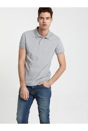 Ltb Erkek  Gri Polo Yaka T-Shirt 012208452960890000