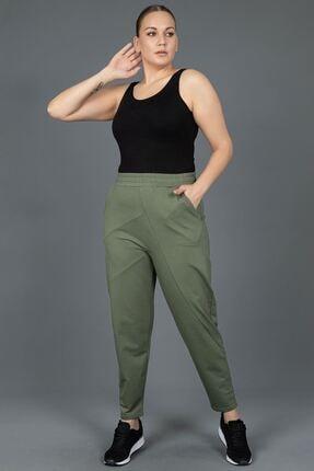 New Color Kadın Yeşil İki İplik Eşofman Altı