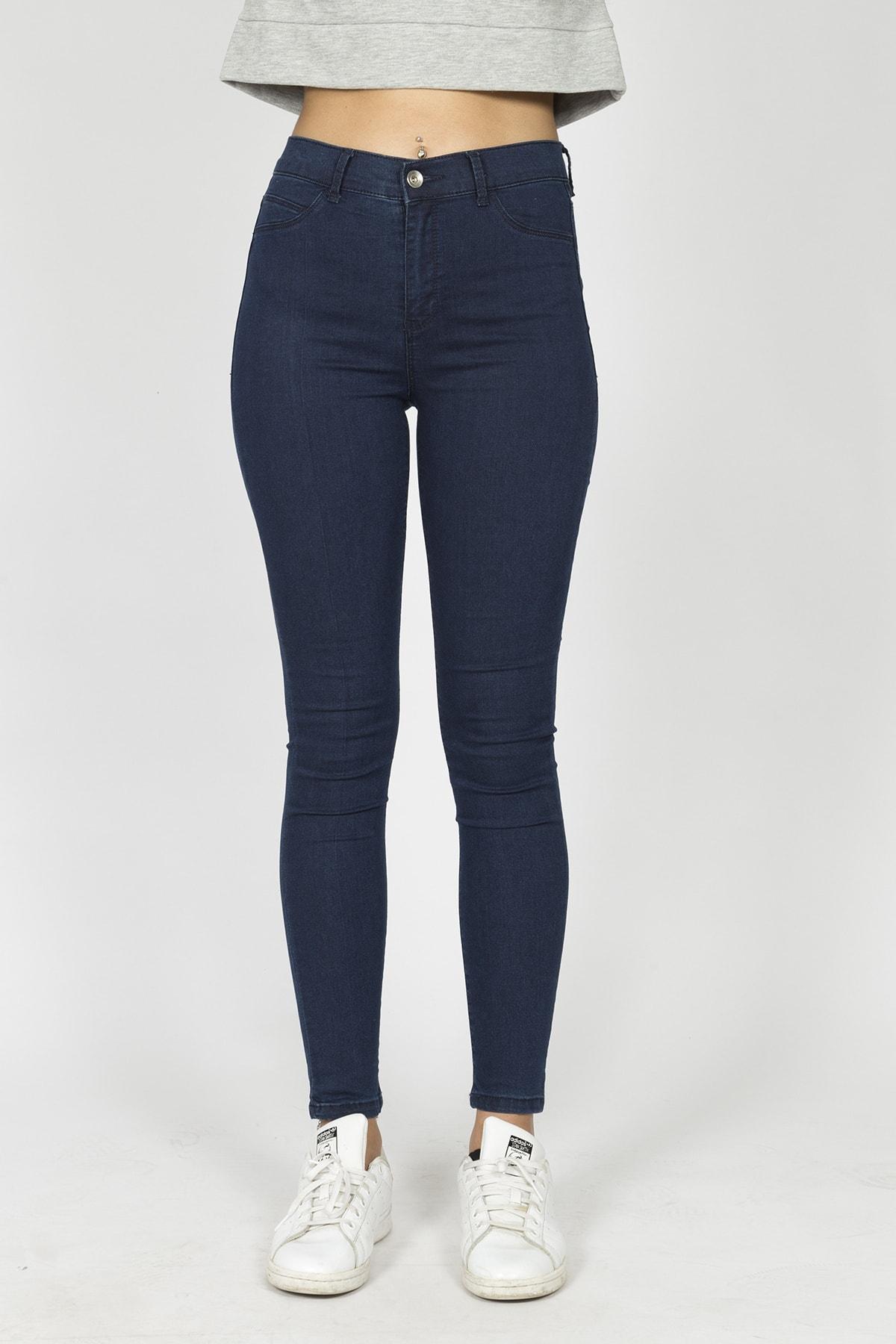 Berm Collection Kadın Lacivert Jeans Kot Pantolon 1
