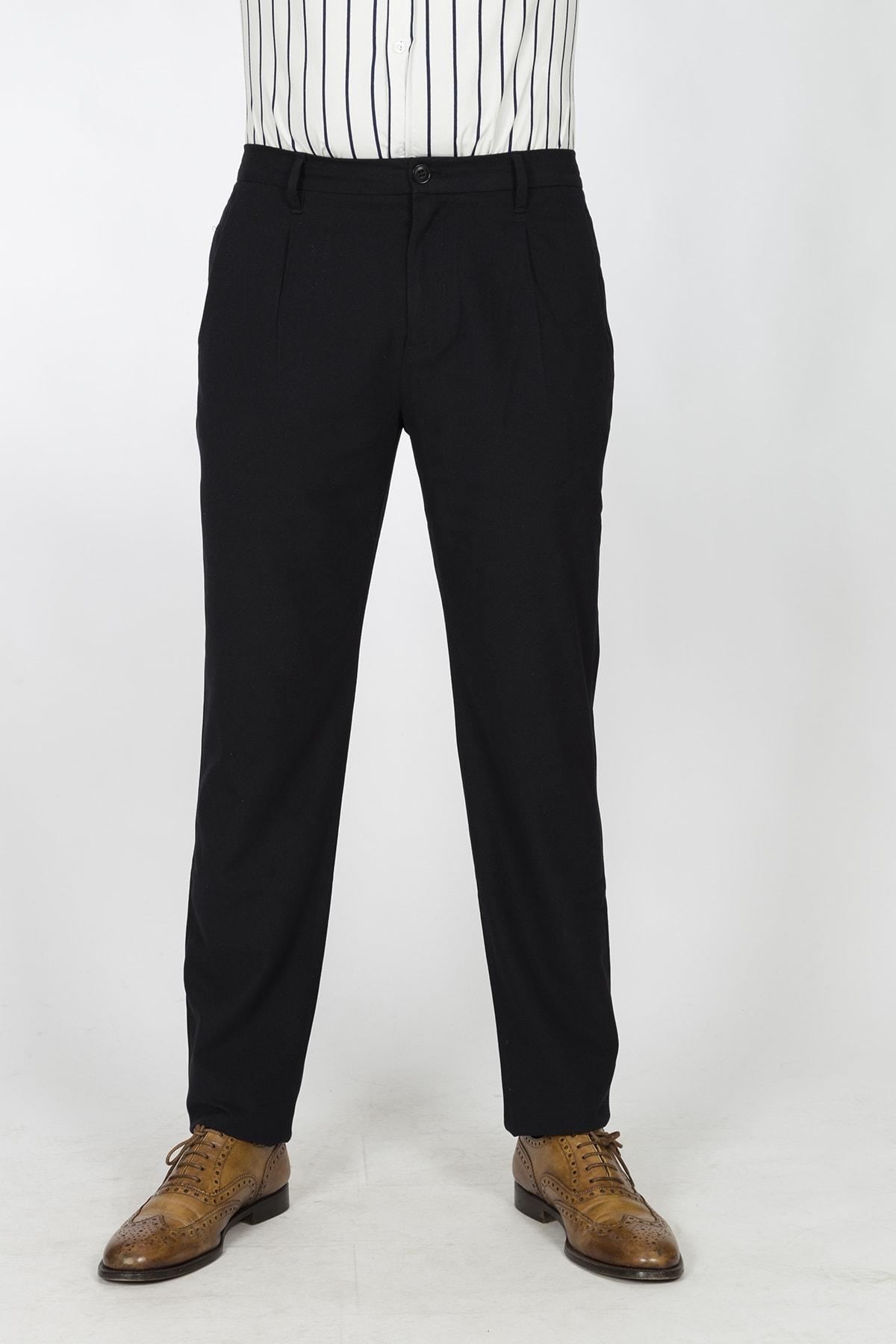 Berm Collection Erkek Lacivert Regular Fit Pantolon 1