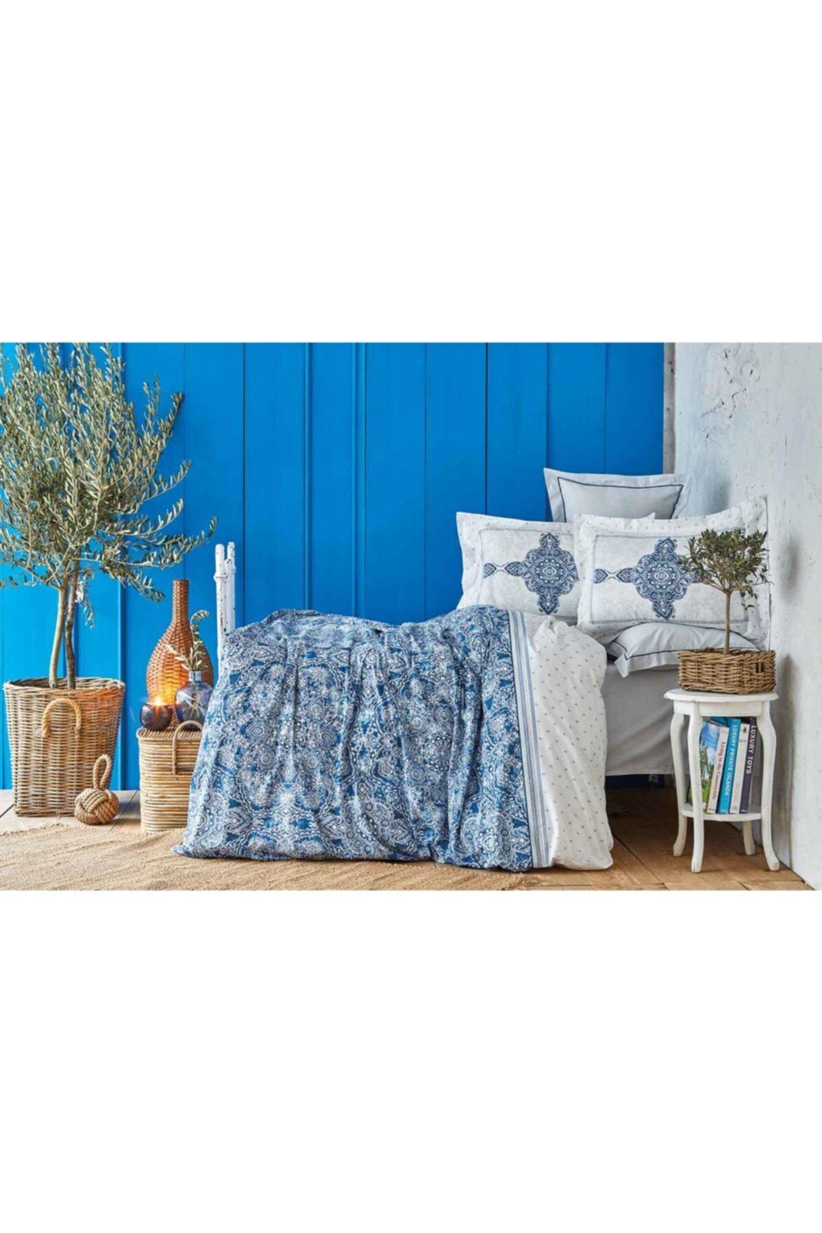 Karaca Home Çift Kişilik Mavi Pamuk Pike Takımı 1