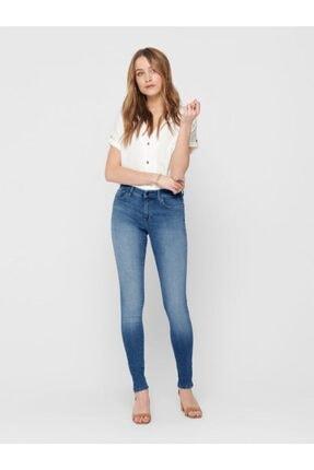Only Shape Regular Skınny Mavi Taşlama Jeans
