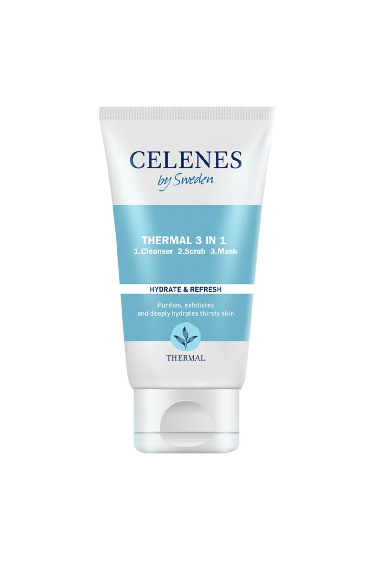 Celenes by Sweden Celenes Thermal 3in1 Peelıng-maske-temızleyıcı 150ml Tum Cıltler 1