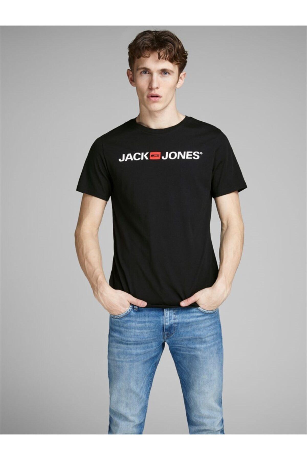 Jack & Jones Erkek Siyah T-shirt 1