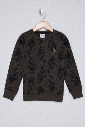 U.S. Polo Assn. Erkek Çocuk Yesil Sweatshirt