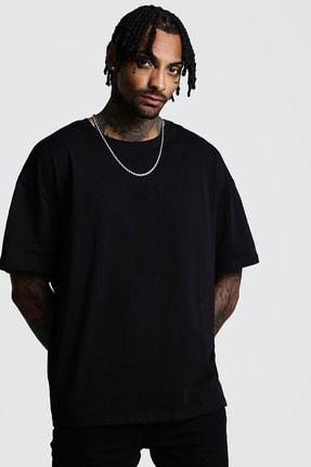 XHAN Siyah Basic Bol Kesim Oversize T-shirt 0yxe1-44124-02