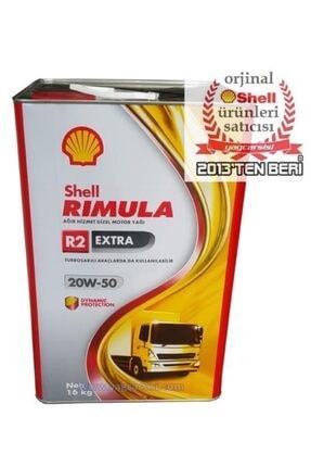 SHELL Rimula R2 Extra 20w50 Teneke 18 Litre (16 Kg)