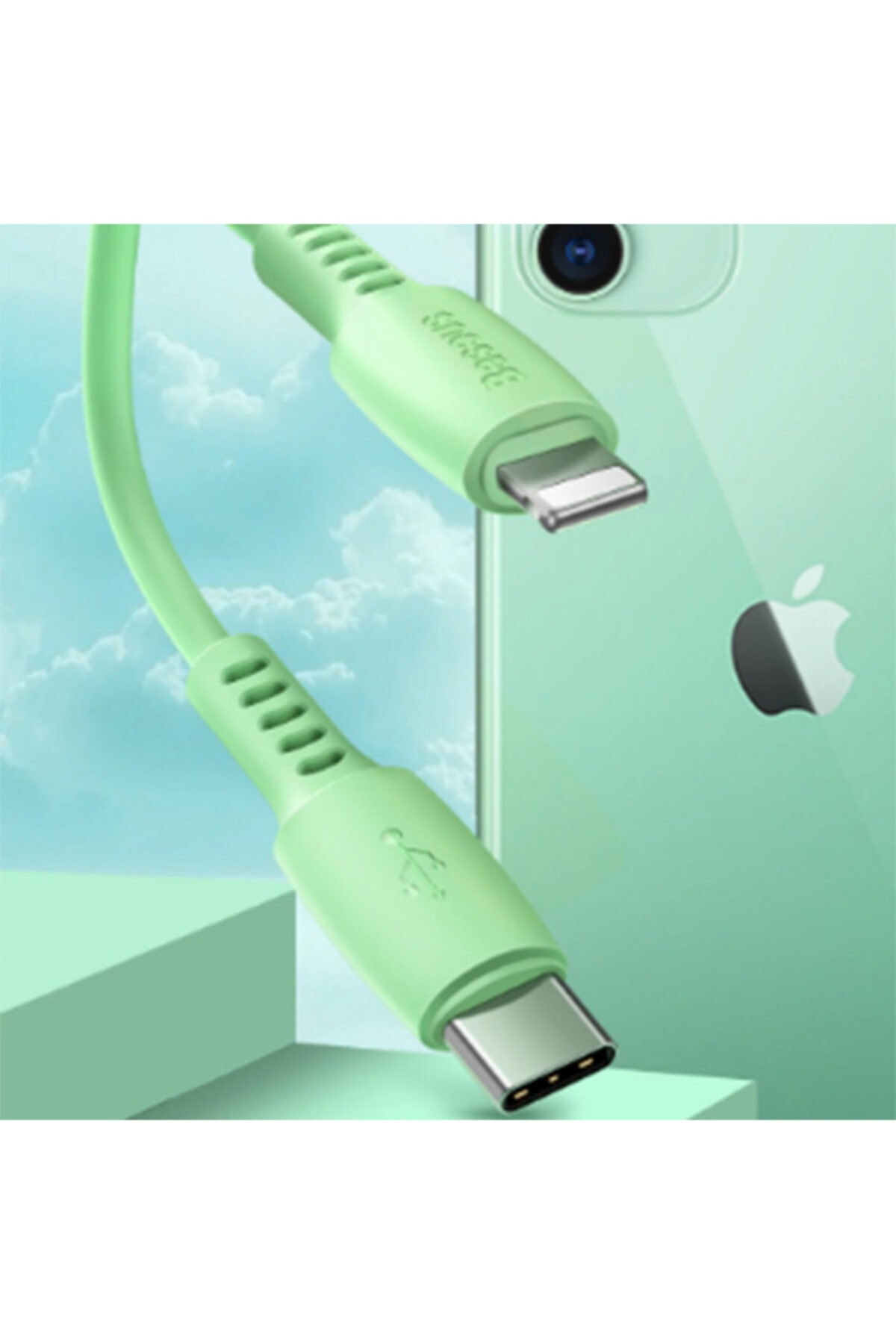 Baseus Colourful Cable Usb Type-c- Iphone 11-pro18w Hızlı Usb Şarj Kablosu 1
