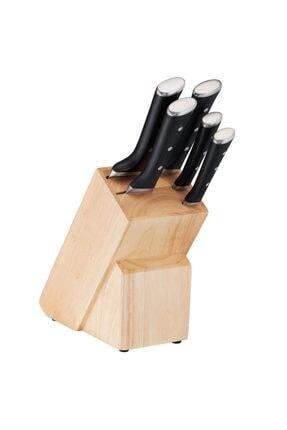 TEFAL Ice Force 6 Parça Bıçak Seti, 5 Paslanmaz Çelik Bıçak + 1 Ahşap Blok - 2100110589 K232s574