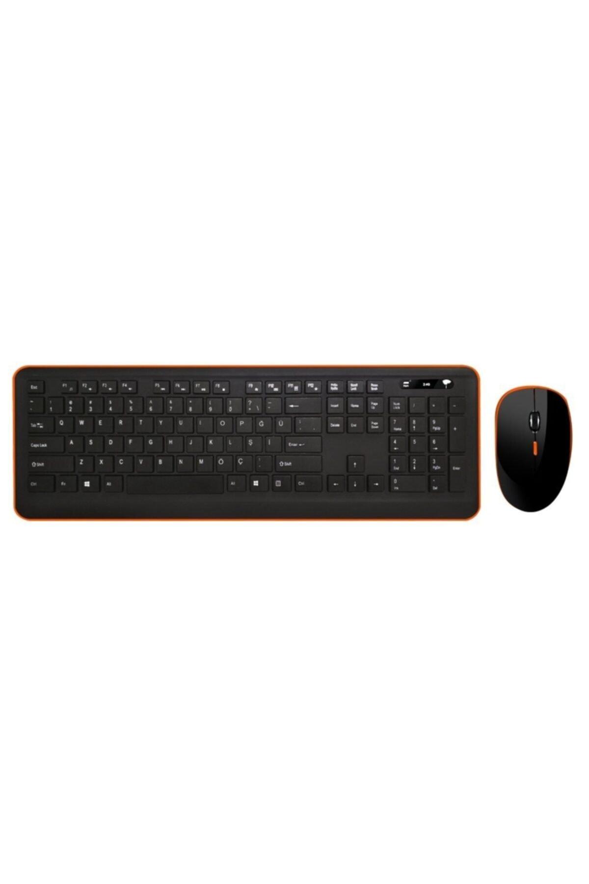 TURBOX Tr-k90 Black Wireless Multimedya Q Klavye + Mouse Set 1