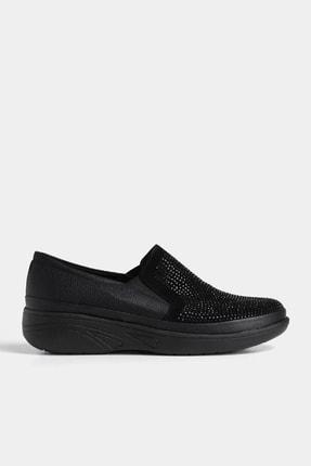 Hotiç Siyah Yaya Kadın Günlük Ayakkabı