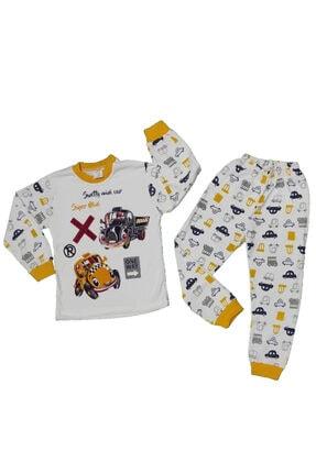 zürafa Araba Baskılı Çocuk Pijama Takımı
