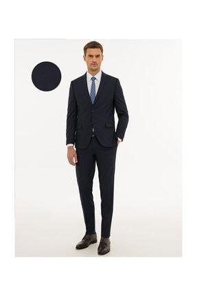 Pierre Cardin Erkek Lacivert Ekstra Slim Fit Takım Elbise