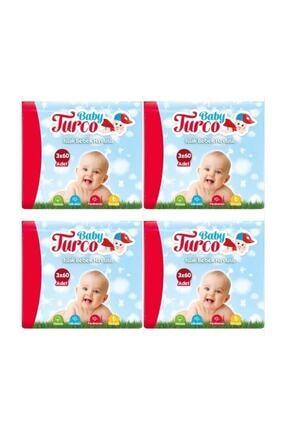 Baby Turco Islak Havlu Mendil Klasik 12x 60=720 Yaprak 5861995