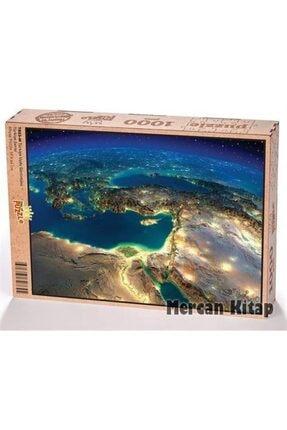 King Of Puzzle Türkiye Uydu Görüntüsü Ahşap Puzzle 1000 Parça (tr03-m)