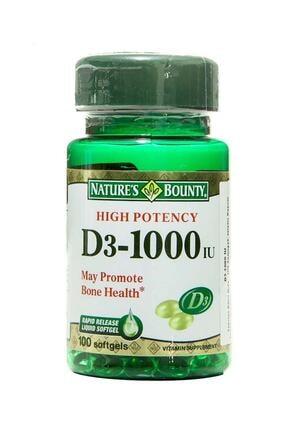 Nature's Bounty Vitamin D3 1000 Iu 100 Kapsül 074312156052