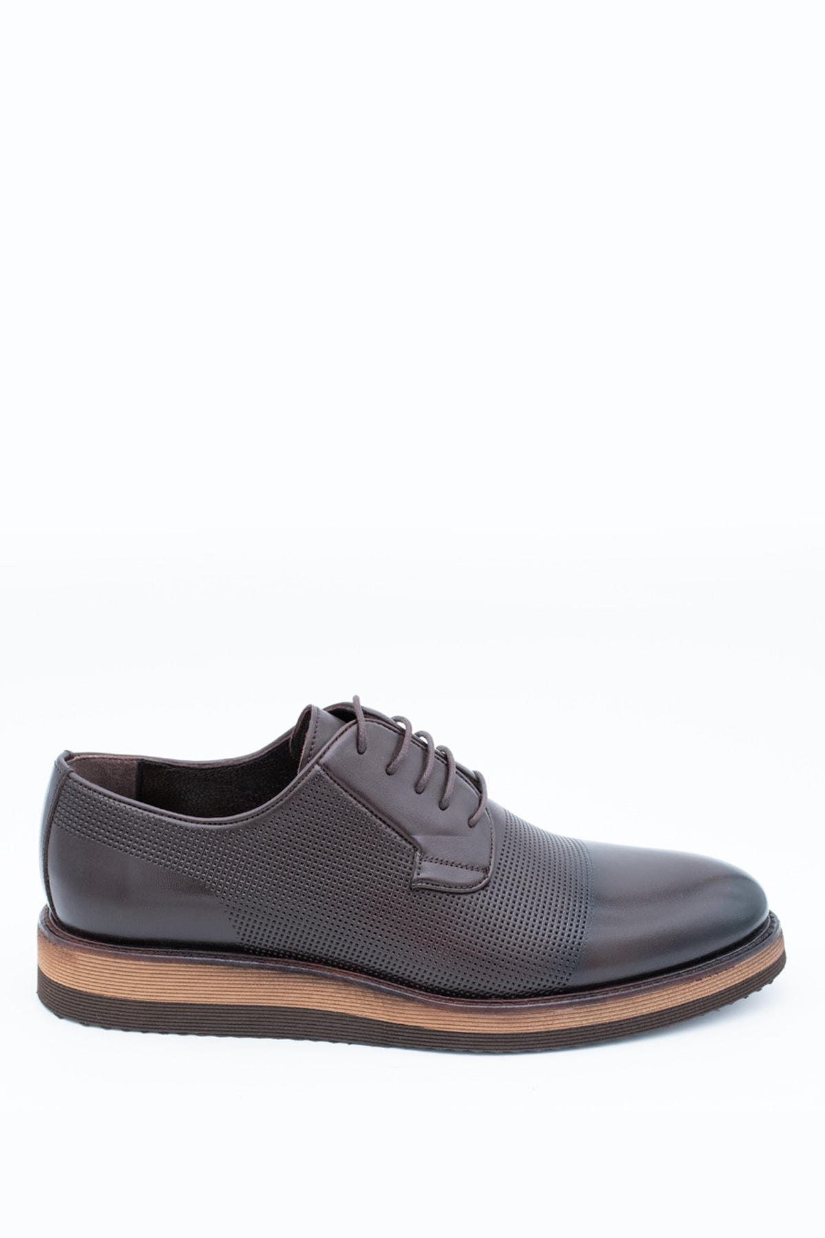 İgs Erkek Kahverengi Deri Günlük Ayakkabı 1
