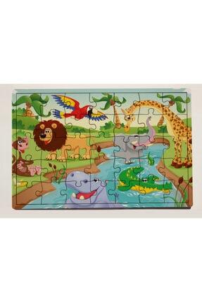 meyuhome Orman Partisi 35 Parça Ahşap Puzzle