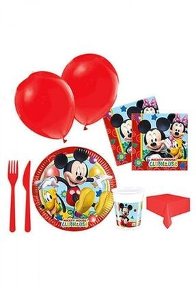 Mickey Mouse Doğum Günü Seti 8 Kişilik