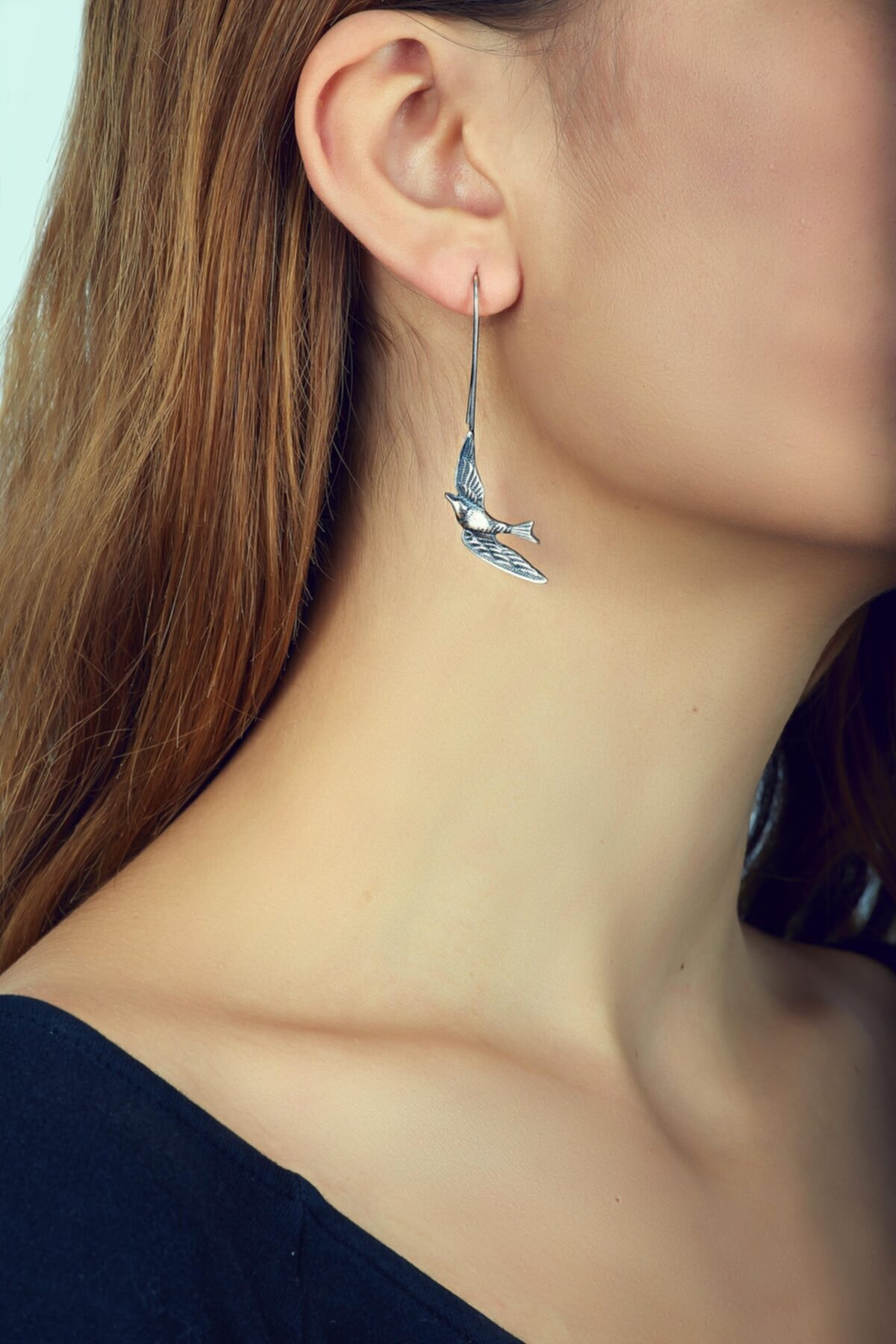 Sümer Telkari Kadın Güvercin Tasarım Elişi Gümüş Küpe 2602 1