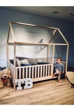 Montessori Yatak Çatılı 120x200 Çocuk Yatak