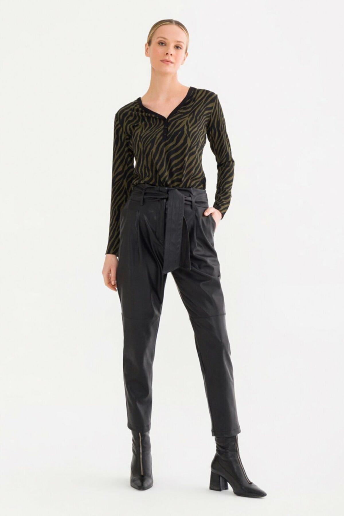 adL Kadın Siyah Yüksek Bel Pantolon 15337412000001 1