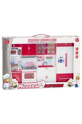 Kayyum Oyuncak Modern Kitchen Dörtlü Sesli Işıklı Mutfak Seti