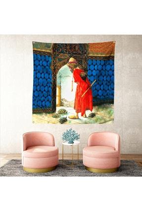 Realhomes Kaplumbağa Terbiyecisi Dijital Baskılı Dekoratif Tapestry Modern Tasarım Duvar Örtüsü