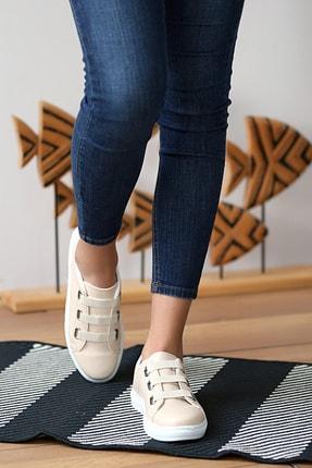 Pembe Potin Kadın Krem Ayakkabı