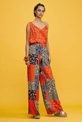 adL Kadın Coral Beli Lastikli Pantolon