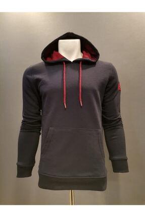 Lion Unisex Lacivert Kapüşonlu 3 İplik Sweatshirt 3810