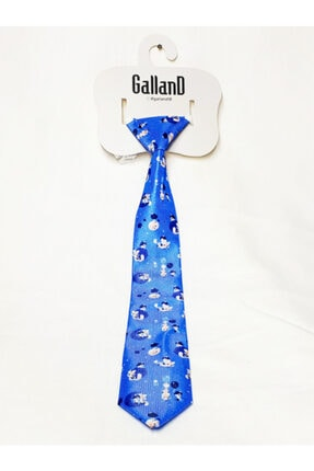 GallanD Erkek Çocuk Mavi Kravat Dijital Baskı