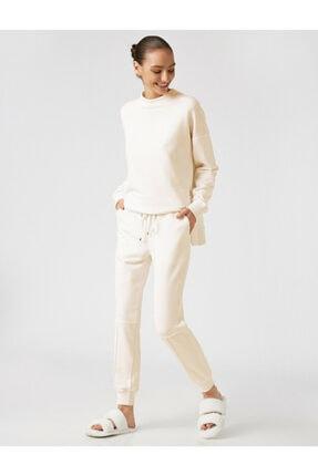 Koton Kadın Ekru Arzu Sabanci For Düz Renk Culotte Pantolon