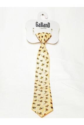 GallanD Erkek Çocuk Sarı Kravat Dijital Baskı