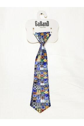 GallanD Erkek Çocuk Mavi Dijital Baskı Kravat