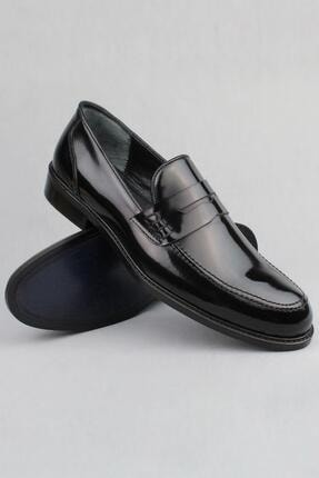 CZ London Erkek Siyah Hakiki Deri Klasik Ayakkabı Loafer