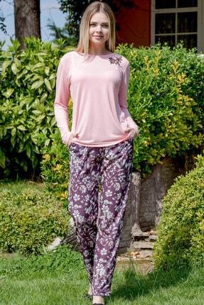 Yeni İnci Kadın Pembe Ev Giyim Pijama Takımı