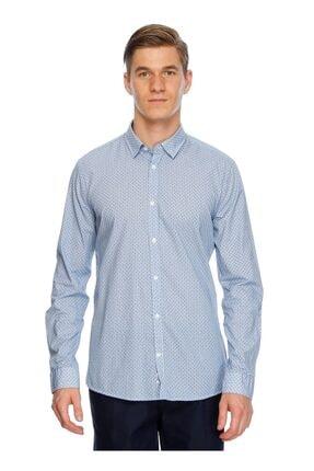 Fabrika Desenli Uzun Kollu Gömlek
