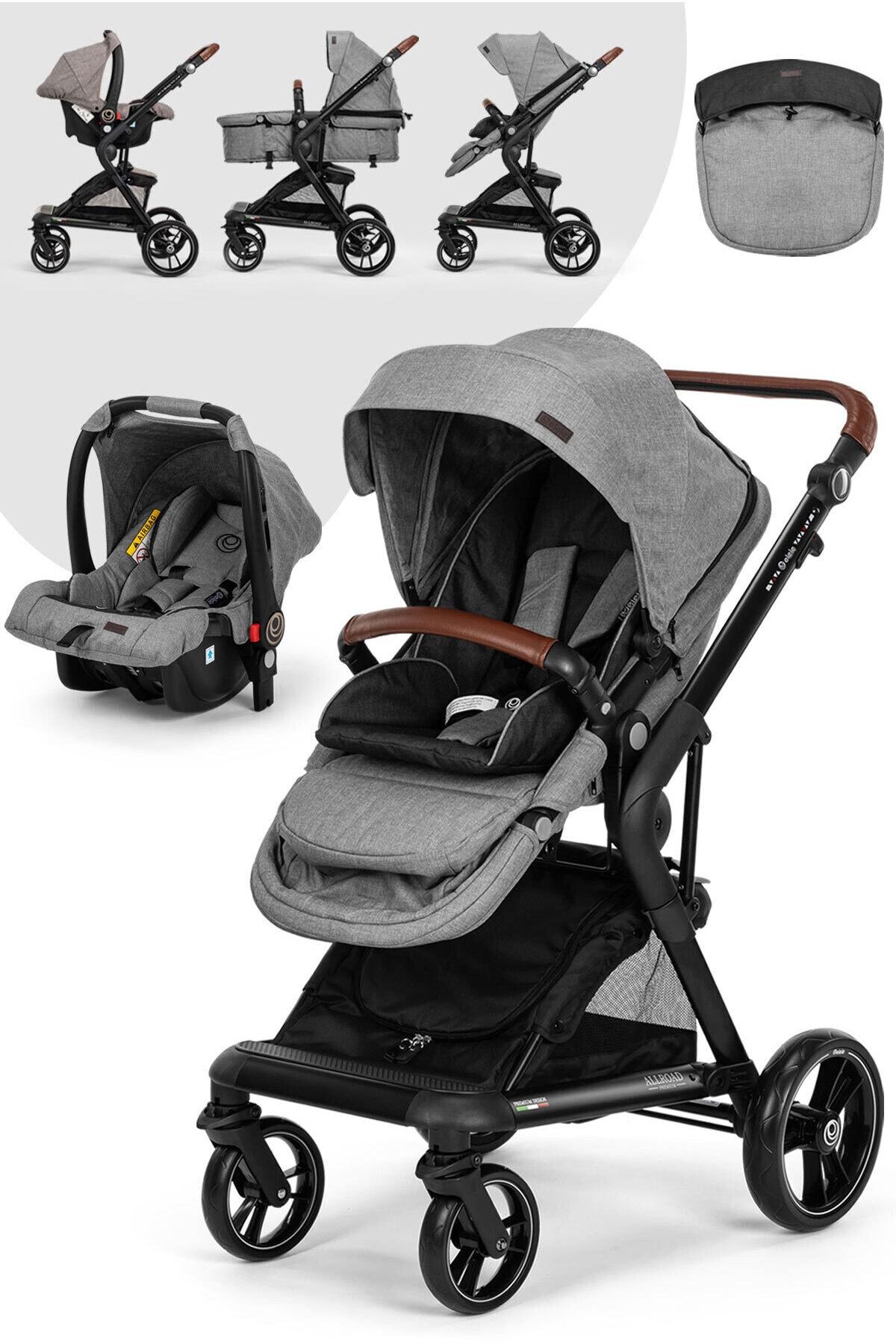 Elele Allroad 2 Travel Sistem Bebek Arabası Gri 1