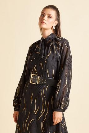 SERPİL Yakası Bağcıklı Elbise