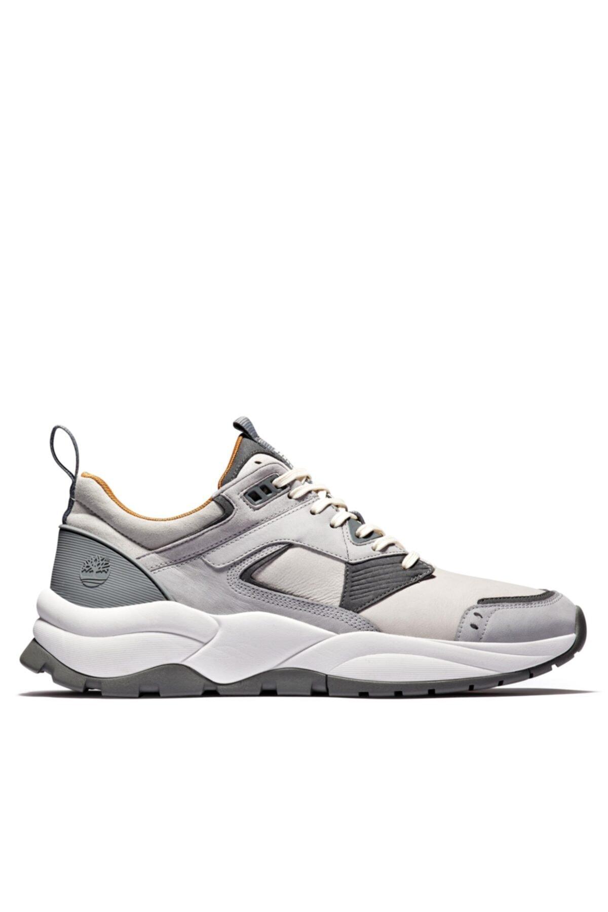 Timberland Tımberland Grey Erkekler Için Tree Racer Deri Sneaker 1