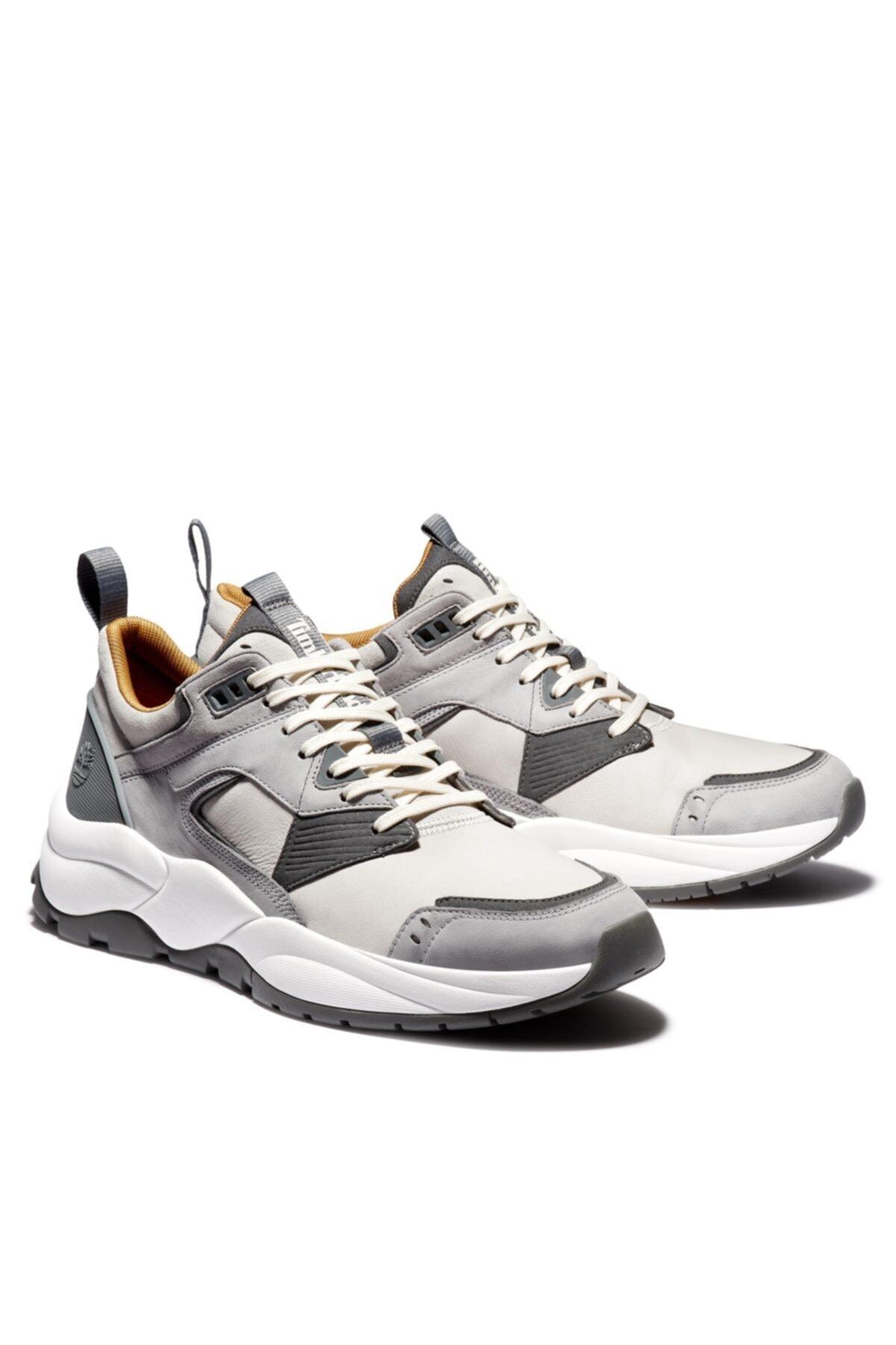 Timberland Tımberland Grey Erkekler Için Tree Racer Deri Sneaker 2