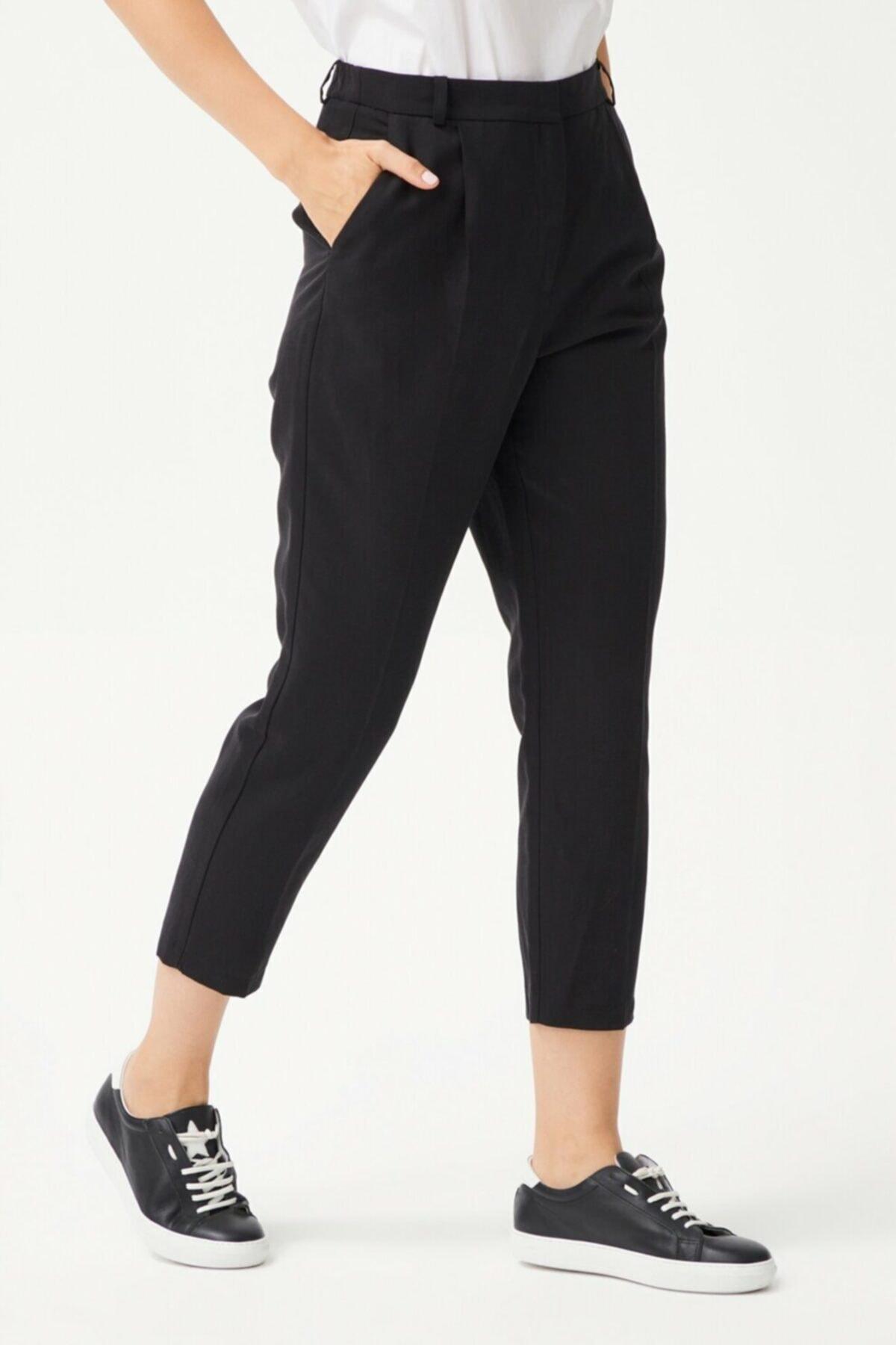 adL Kadın Siyah Pileli Pantolon 2