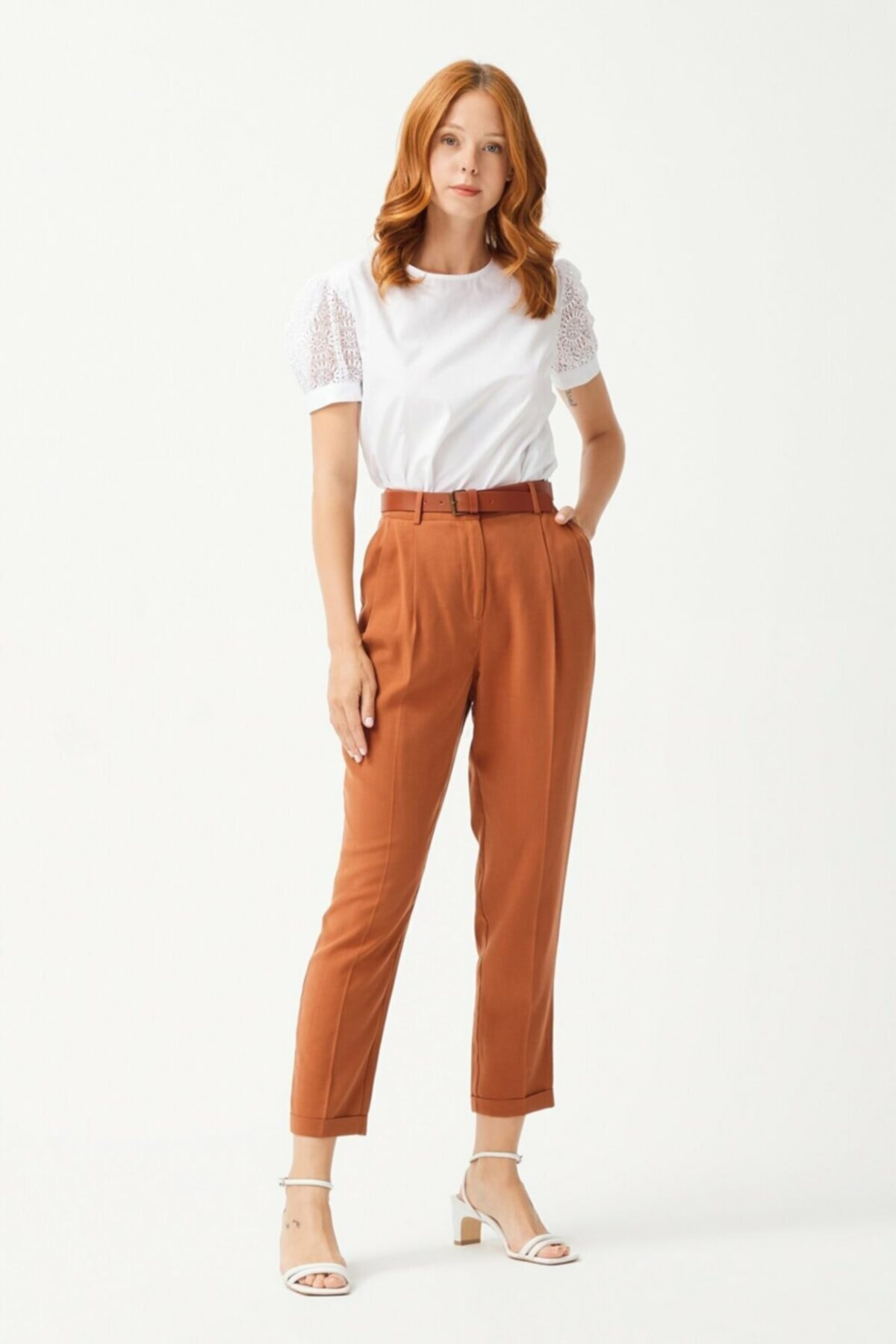 adL Kadın Pileli Pantolon 1
