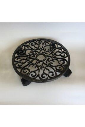 IDYLLHOME Metal Saksı Altı Tekerlekli Saksı Altlığı Çiçek Standı Döküm Dekoratif Ürün