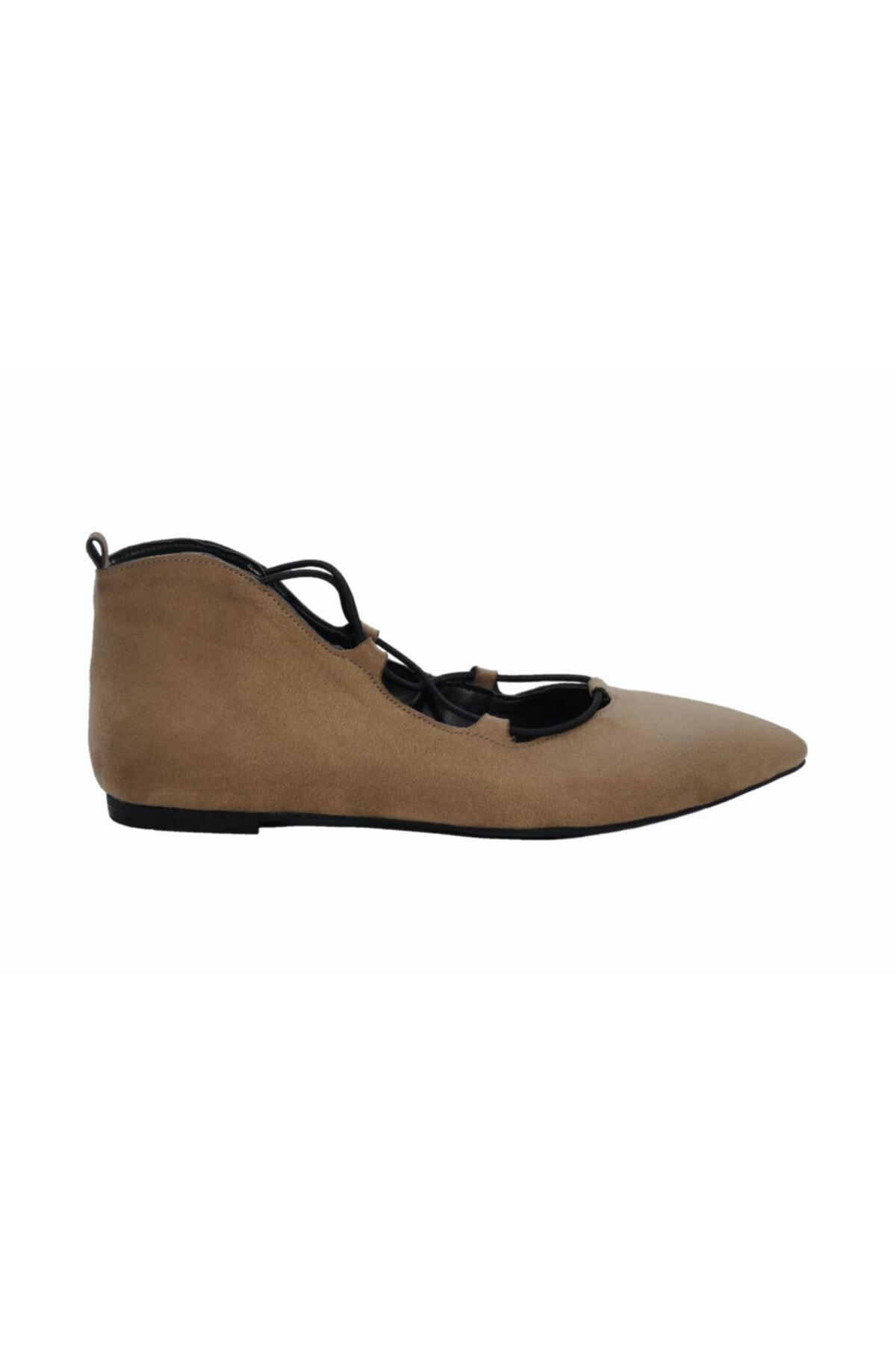 DİVUM Kadın Vizon Süet Ayakkabı 1