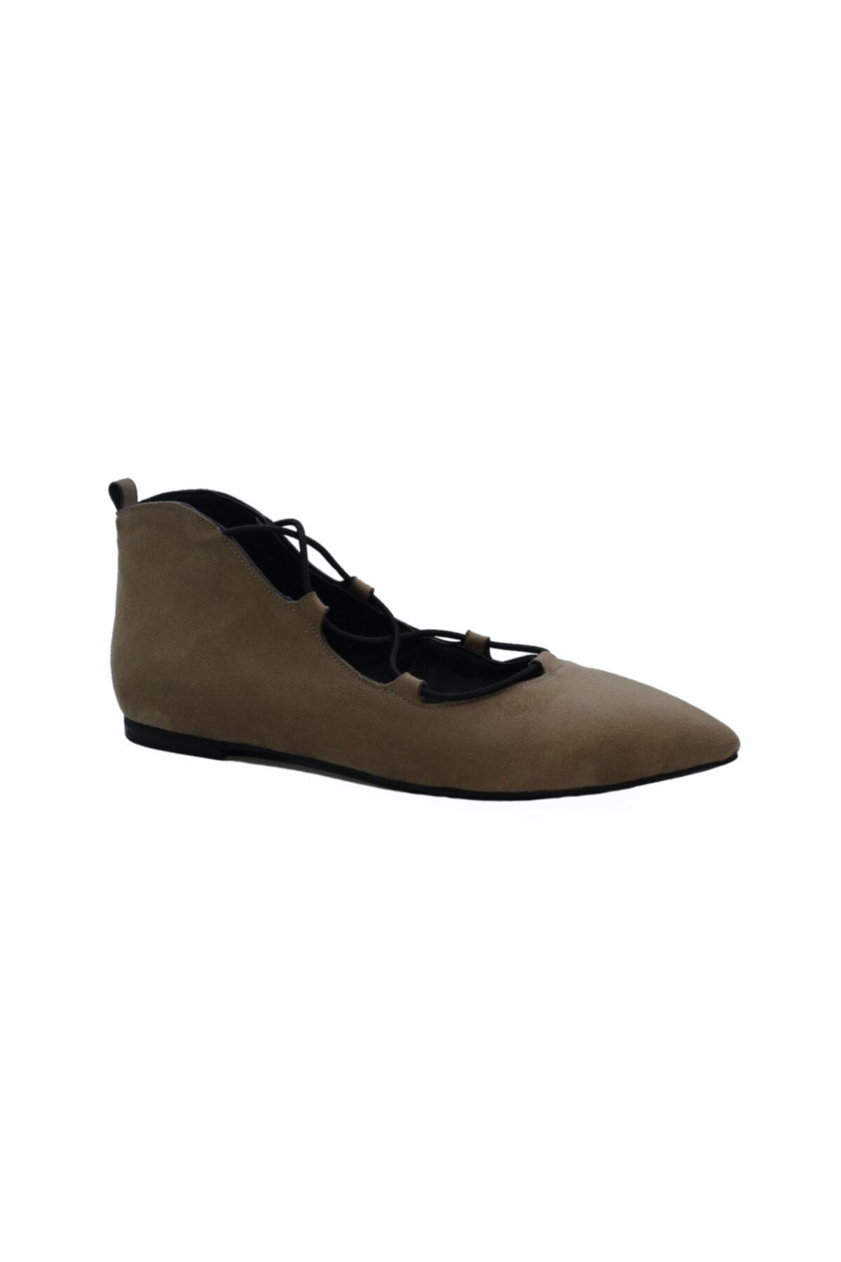 DİVUM Kadın Vizon Süet Ayakkabı 2