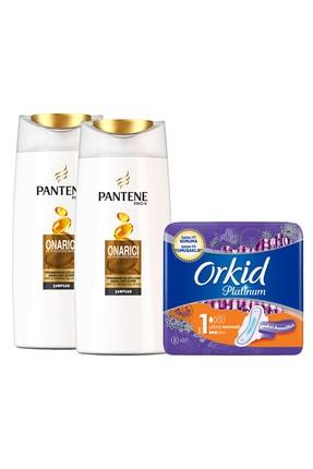 Pantene Onarıcı Ve Koruyucu Bakım Şampuan 700 ml x2  + Platinum Hijyenik Ped Normal Tekli Paket 8 Adet